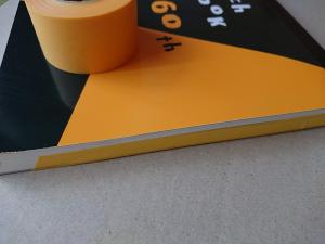 マルマンのスケッチブックにマスキングテープを貼る